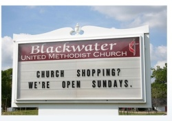 church shopping photo