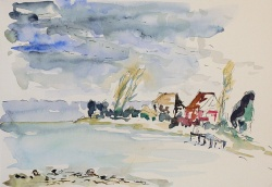 watercolor-lake-constance-immenstaad-shore-kleckser