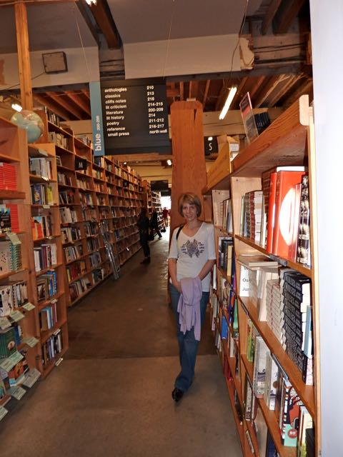 The bookstacks at Powell's Bookstore
