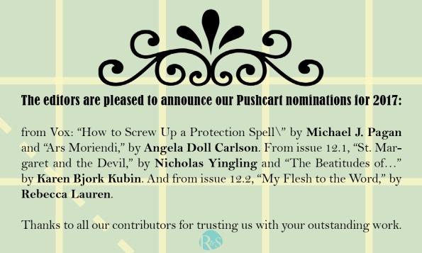 2017 Pushcart announcement